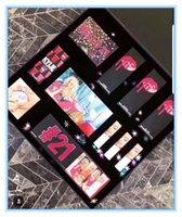 ingrosso grandi palette ombretto-2018 Compleanno collezione trucco set 21 Compleanno set rossetto Compleanno kit set grande tavolozza ombretto