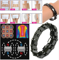 Wholesale magnet clasps for bracelets - Women Black Cool Magnet Health slimming Bracelets & Bangles Jewelry bio magnetic Bracelet charm bracelets For Women weight loss