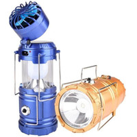 el feneri perakende kutusu toptan satış-Güneş Şarj Edilebilir LED El Feneri Fan Güç Banka Perakende Kutusu ile Kamp Çadır Işık Fener Lamba Yüksek Kalite