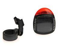 solar-fahrrad-lampe großhandel-Solar Power Fahrrad Hinten Schwanz Rot 2 LED 4 Modus Licht Lampe Mountainbike Reitausrüstung Radfahren Zubehör