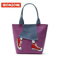 große einkaufstaschen großhandel großhandel-Großhandelsfrauen-Beutel-hohe Qualität Segeltuch-Handtaschen-Art- und Weisefrauen-EinkaufsTote Top-Griff Taschen-weibliche Schulter-Beutel