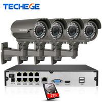 система 8ch cctv оптовых-Система 2.8-12mm POE NVR камеры слежения 8CH 1080P вручную объектив 1080P IP водоустойчивый P2P наборы системы CCTV наблюдения
