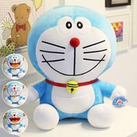 anime sıcak yastık toptan satış-Sıcak Anime Bana 25 cm Standı Doraemon Peluş Oyuncaklar CuteCat doll Yumuşak Dolması Hayvanlar Yastık Bebek Oyuncak Çocuklar İçin Hediyeler Doraemon Şekil