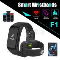 Wholesale f1 android - F1 Smart Watch Blood Pressure oxygen Monitor Smart Band Fitness Tracker Activity Wristband Heart Rate Monitor Pedometer Smart Bracelet DHL