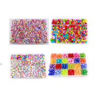 Wholesale diy bead kits for sale - Best Gift Mixed Diy Loose Acrylic Beads Set Accessories For Necklace Bracelet Girl Developmental Toys Kids Beads Kits