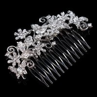 ingrosso capelli spazzolatura accessori-Accessori per capelli da sposa accessori per capelli da sposa pettine di cristallo per capelli da sposa prezzo basso