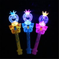 Wholesale stick wands for sale - Group buy 2018 Flashing Stick Cartoon Crown Magic Wand Light Sticks Kids Toys Party Supplies Wedding Decoration H356