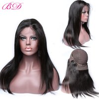 Wholesale cheap human hair wigs online - Cheap Peruvian Human Hair Wigs Glueless Lace Front Wigs Straight Peruvian Virgin Hair Natural Hairline and Color Wigs Direct Selling