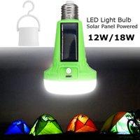 ingrosso lampadina principale ricaricabile-12W luci solari ha condotto la lampadina E27 che appende la lampada solare principale 18W ricaricabile per l'escursione esterna che tende a campeggio l'illuminazione di pesca