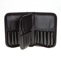 держатель кисти для макияжа оптовых-29 Pockets  Brushes Bag PU Leather Zipper Holder Case Men Women Travel Make Up Brush Cosmetics Organizer New
