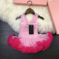 Wholesale puffy clothing online - Baby Girls Dress Brand Princess Dress Puffy dress Style tu tu For Girls party Braces Dance skirt Clothing