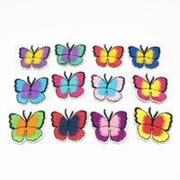 Wholesale Clothing Repair - 25pcs Mixed Buttefly Repairing Patches Clothes T-Shirt DIY Decoration Embellishments Embroidered Stickers Patch Badge 4x3.5cm