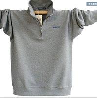 camisa de gola de gola de zíper venda por atacado-Cotton Mens Long Sleeve Polo marca de alta qualidade Plus Size gola de algodão Camisas Men Zipper Camisa Polo Masculina Polos