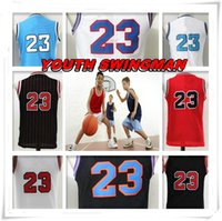 Wholesale children s birthday - YOUTH KID Children Stitched Swingman Christmas Birthday Gift Michael Tune Squad 23 shirt Throwback jerseys TOP Space Basketball Jerseys