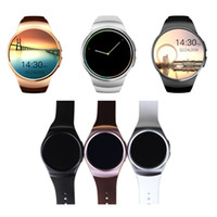 Wholesale mini camera round online - KW18 Smart Watch SMS Notification Music Womens Mens Watch G Round Touch Screen Bluetooth mAh Battery Camera Mini SIM Card Wristwatch