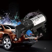 12-вольтовый выключатель оптовых-DC 12V 80W Micro Electric Diaphragm Water Pump 5.5L/min High Pressure Car Washing Spray Automatic Switch For RV Boat J20C22