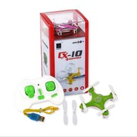 Wholesale Pink Helicopter Toy - New Cheerson CX-10 Mini 2.4G Remote Control Toys RC Drone Quadcopter rc helicopter 4Channel 2.4GHz 6-Axis Airplane A147