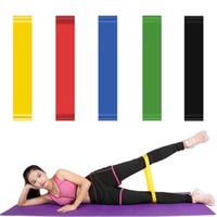 bandas de goma de yoga al por mayor-Body Building Yoga Bandas de estiramiento Cinturón de Fitness Goma elástica correas de ejercicio deporte interior gimnasio Pull Up DDA375