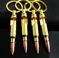 ingrosso vendita dell'apertura della bottiglia-Nuova vendita calda Bullet Apribottiglie Fibbia a chiave Fibbia a chiave per proiettile Apribottiglie birra creative T4H0358