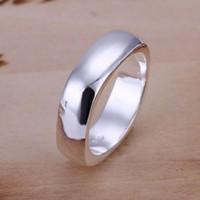 neue sterling silber ringe großhandel-Feine 925 Sterling Silber Ring für Frauen Männer, 2018 Neue Ankunft Weihnachten Großhandel Modeschmuck 925 Silber Klassische Ring Link Italien 6 # -10 # AR04
