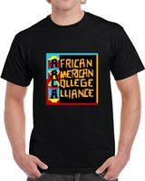 ropa afroamericana al por mayor-Aaca Luke Cage African American College Alliance camiseta hombres negros 2018 ropa de la marca camisetas camiseta superior ocasional