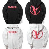 Wholesale Mens Fleece Sweaters - Vlone Hoodies FRIENDS skateboard Mens designer hoodie Hip Hop sweaters luxury Sweatshirts V Fleece Pullover Oversized streetwear White Black