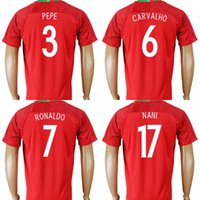 Wholesale Soccer Jersey Portugal - Thailand 2018 Portugal World Cup Jersey RONALDO PEPE F.COENTRAO J.MOUTINHO NANI CARVALHO QUARESMA ANDRE GOMES Red Home Soccer Football Shirt