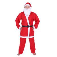 Wholesale santa fancy dress - SDFC Adult Christmas Fancy Santa Claus Straight Beard Costume Party Dress New