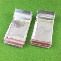kafa bandı paketleri toptan satış-500 adet OPP şeffaf şeffaf kendinden yapışkanlı seal plastik torbalar için kolye / takı / hediye / Headbands DIY küçük ambalaj çanta ...