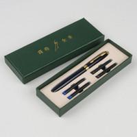 canetas de fonte baoer 388 venda por atacado-Escola caneta Baoer 388 Clipe de Ouro de Luxo Caneta Caneta Cores Mix 0.5mm Nib Canetas De Tinta De Metal Definido para o Presente de Natal
