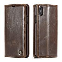 iphone 5s stehen fall großhandel-Caseme wallet case für iphone 5 5s se 6s 7 8 x plus mit stand leder flip cover telefon kreditkarte für iphone xs xr xs max geld abdeckung