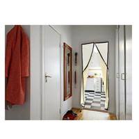 ingrosso tende di rete-Cortina per porta schermo magnetica a mani libere Anti-zanzara / Bug beige Cortina De Pantalla Magnetica De La Puerta Tende per la casa