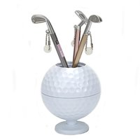 Wholesale gift mini pen for sale - Golf Gift Mini Golf ball Pen Holder Creative Pen Container with Three Club Shape Ballpoints