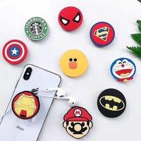 iphone einzigartiger inhaber großhandel-Super Hero Superman Batman Holder mit Ständer Einzigartige Handyhalter Mode für iPhone 7 Plus 8 X Samsung S8 Plus