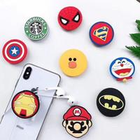 iphone exclusivo titular venda por atacado-Super hero superman batman titular com suporte de telefone celular suporte exclusivo moda para iphone 7 plus 8x samsung s8 além de
