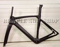 Wholesale carbon race frame - T800 carbon racing road bike bicycle frame custom painting mechanical DI2 available BB386 XDB shipping available 50 53 55 57