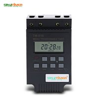 Wholesale ac rail - Control Power Timer Microcomputer Electronic Weekly Programmable Digital Timer Switch Time Relay Control 220V AC 30A Din Rail Mount