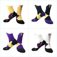 нейлоновые носки оптовых-Взрослые Нейлоновые Элитные Баскетбольные Носки Кобе Спорт Профессиональные Водопоглощающие Носки Противоскользящие Износостойкие Красочные Чулки 13ba JJ