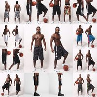 Wholesale fasting exercise - Basketball shorts Men's Men's elite thin body-building exercise knee five points, basketball pants, white, breathable and fast dry shorts.
