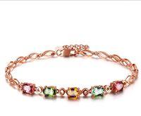 jóias em mosaico venda por atacado-Pulseiras amor afortunado moda nova luxo nobre criativo Mosaico cor pulseira gemstone senhora elegante charme jóias