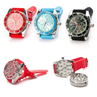 Wholesale grinder watches - Fashion Classic Grinder Watch Watch Shape Tobacco Grinder Somking Grinder Wristwatch Watch Real Grinde Free DHL HH7-865