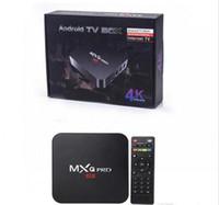 tv hdmi bluetooth venda por atacado-Caixa de TV Android 7.1.2 Amlogic S905W 1G MXQ PRO 4 K mais com 2.4 GHz 5.8 GHz WIFI Bluetooth MC17.3 1 GB 8 GB Caixa de TV na Internet