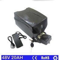 литий-ионный аккумулятор оптовых-Бесплатная доставка Frog ebike литиевая батарея 48 В 20ah для 750 Вт 1000 Вт двигателя с 30A BMS 54.6 В 2A зарядное устройство