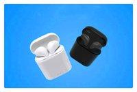 ingrosso orecchio senza fili del mini auricolari del bluetooth-HBQ I7 TWS Mini Bluetooth auricolari Cuffie invisibili wireless Cuffie con microfono Stereo bluetooth 4.1 Auricolare per iPhone x Android