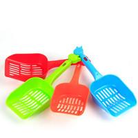 ingrosso pulizia dei gatti-Plastica Pet Fecal Cleaning Spade Multi Colore Con Manico Cat Litter Pala Durevole Addensare Animali Forniture Vendita calda 1tt CB
