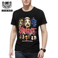 a592a532572 Rocksir 2017 Summer Style Fashion Men T Shirt Black T -Shirt Tshirt Men  S Shirt  Cotton Rock Band Slipknot Print Hip Hop Tee
