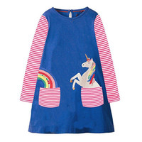 Wholesale girls dresses for sale - Kids Dress Jersey Baby Girl Dress Hot Sale Autumn Cotton Dresses for Kids Clothing Baby Girl Clothes