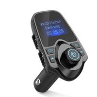 transmisor inalámbrico de audio para automóvil al por mayor-T11 LCD Bluetooth manos libres para automóvil Kit de auto A2DP 5V 2.1A Cargador USB Transmisor FM Inalámbrico Modulador FM Reproductor de música de audio con paquete