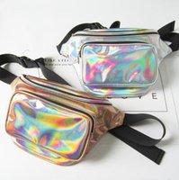 sparkle bags achat en gros de-JaponKorea New Style Sacs de Taille Original Réfléchissant Laser Ayabeni 15 Couleurs Sparkle Festival Hologramme Sac Taille Sac