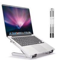 tragbare laptophalter großhandel-Aluminium Einstellbare Tablet Stand Tragbare Laptop Ständer Desktop Notebook Tablet Telefon Halterung Universal für 17 Zoll Gerät